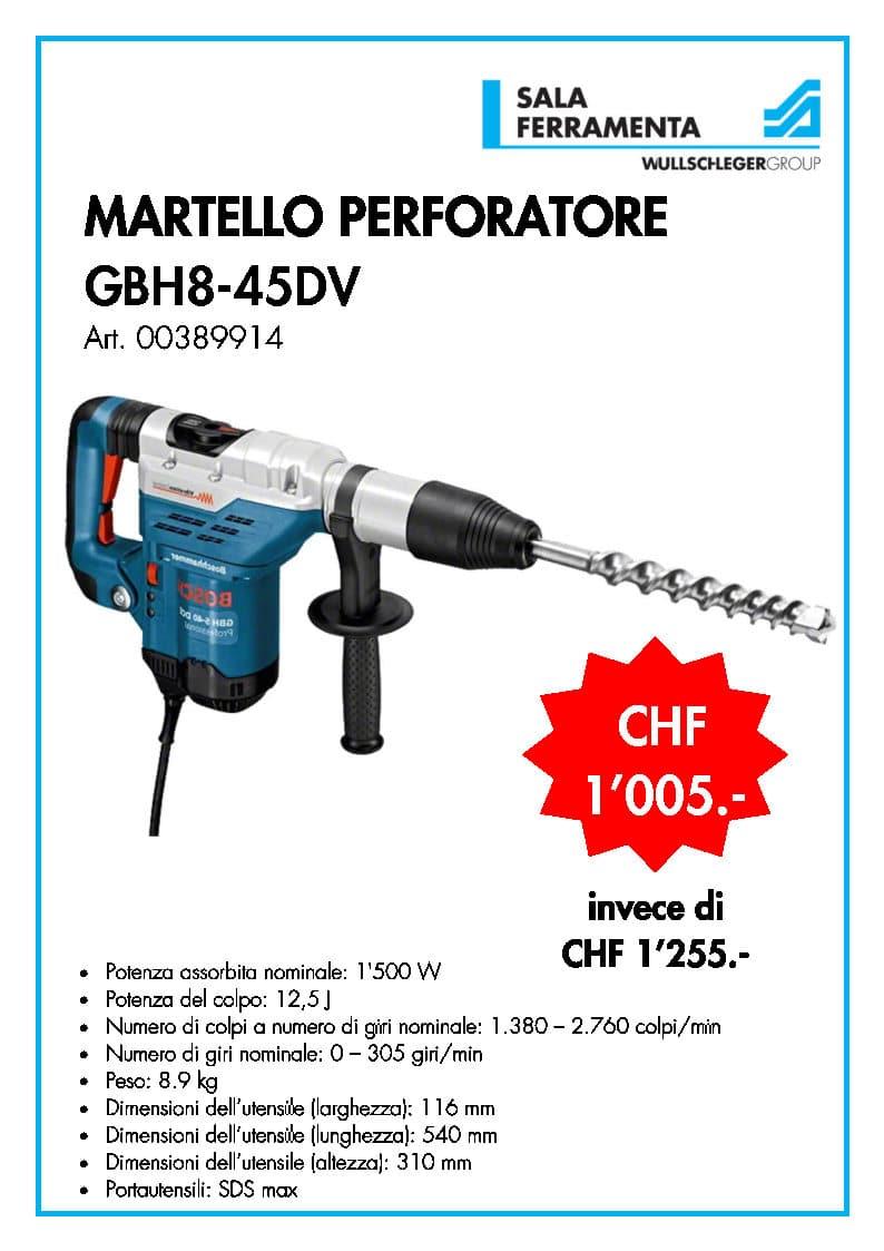 Bosch martello GBH8-45DV