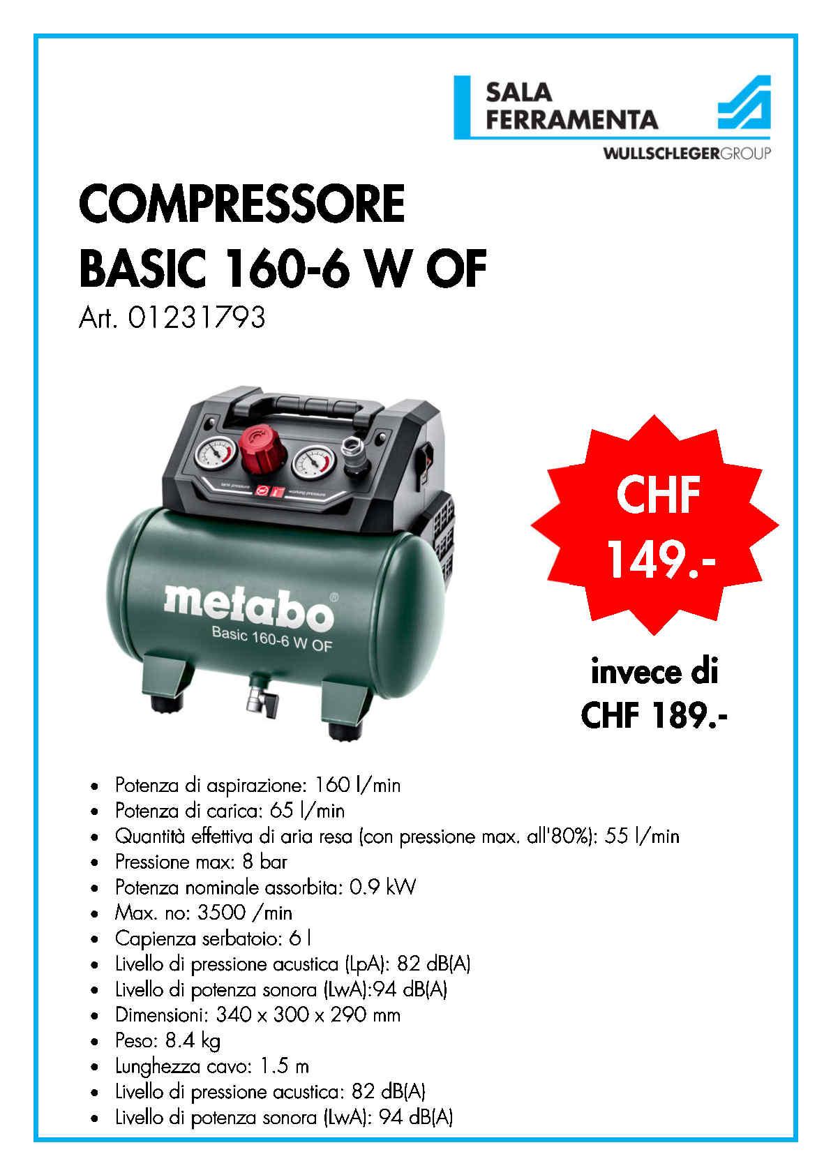 COMPRESSORE BASIC 160-6 W OF