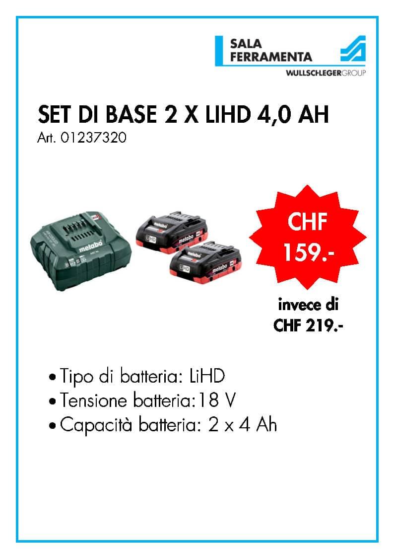 Metabo trapano avvitatore powermaxx BS basic set 2x2.0