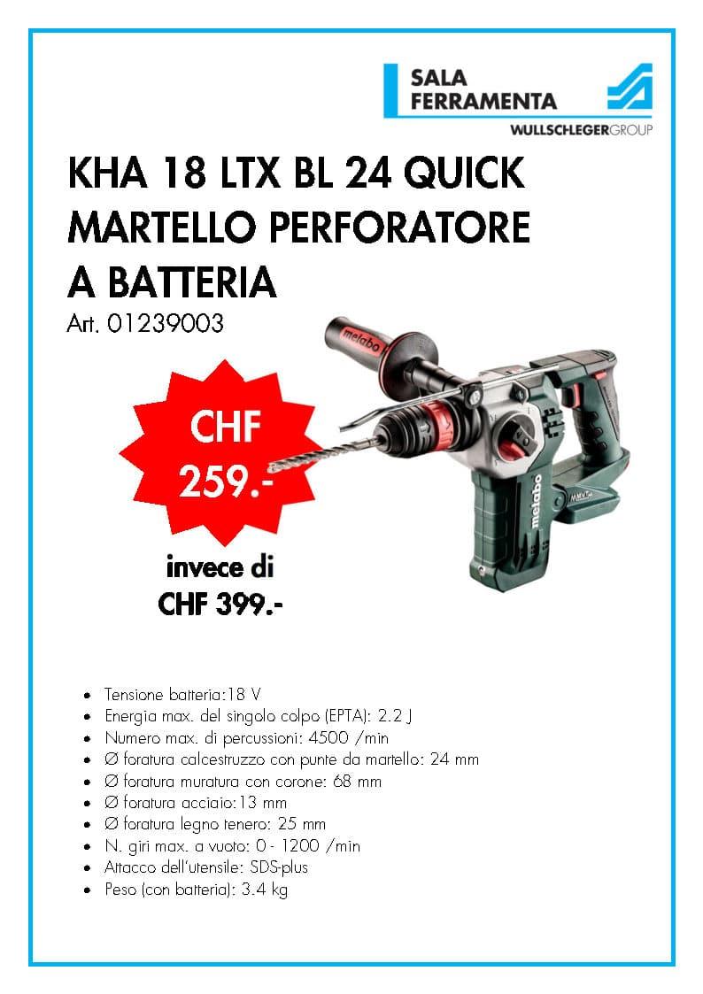 Metabo KHA 18 TLX BL 24 Quick