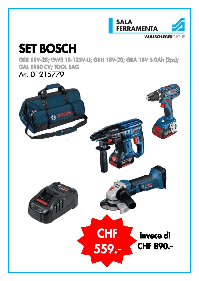 GSR 18V-28; Bosch GWS 18-125V-LI; GBH 18V-20; GBA 18V 5.0Ah (2pz); GAL 1880 CV; TOOL BAG