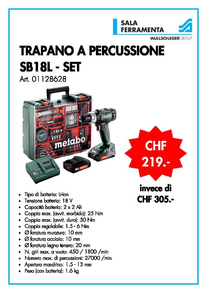 Bosch trapano a percussione SB18L