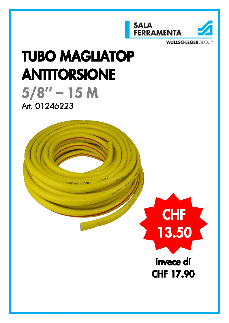 Tubo magliatop antitorsione 15 m