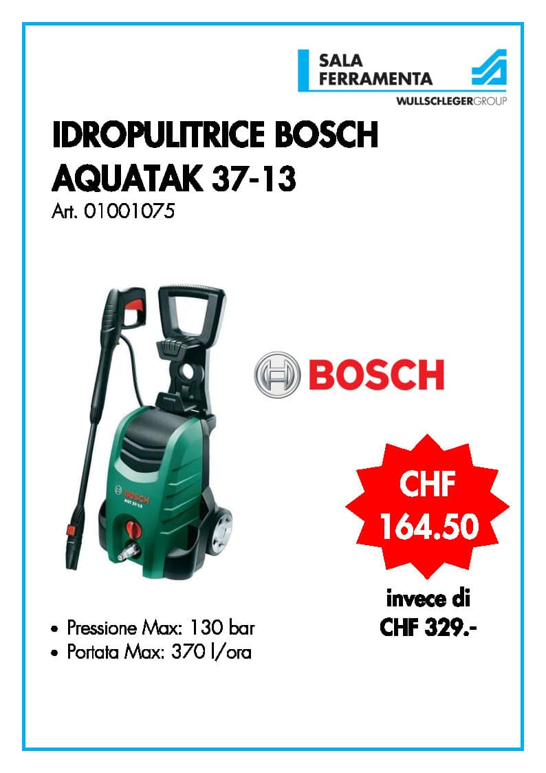 Idropulitrice Bosch Aquatak 37-13