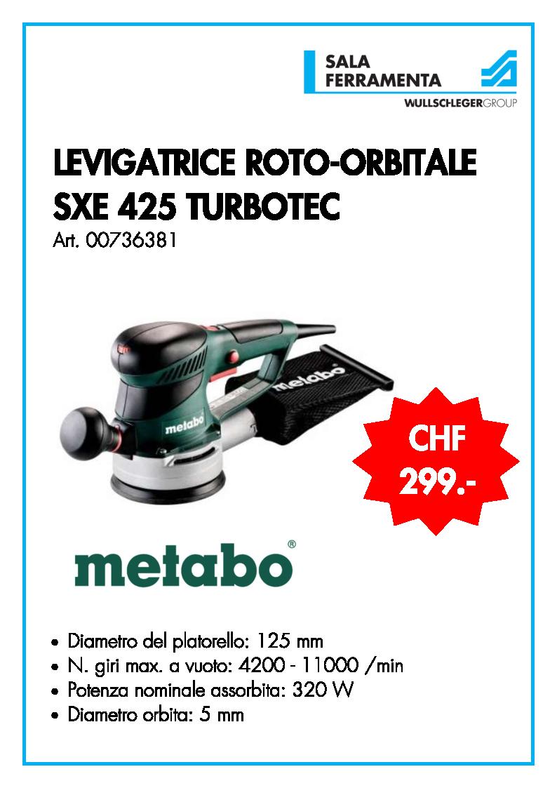LEVIGATRICE ROTO-ORBITALE SXE 425 TURBOTEC