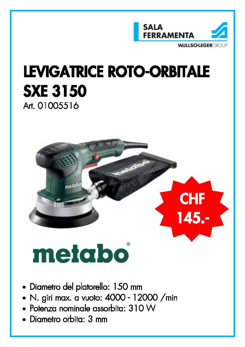 LEVIGATRICE ROTO-ORBITALE SXE 3150